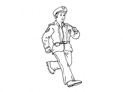 Coloriage policier 15 coloriage policiers coloriage - Dessin policier ...