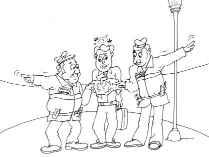 Coloriage Policier 26