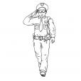 Coloriage Policier 7