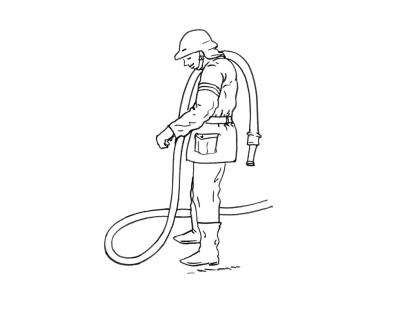 Coloriage Pompier 1