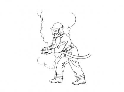 Coloriage Pompier 11