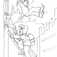 Coloriage Pompier 16