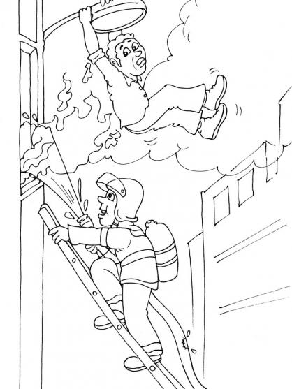 Coloriage pompier 16 coloriage pompiers coloriage metiers - Coloriages pompiers ...