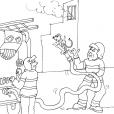 Coloriage Pompier 17
