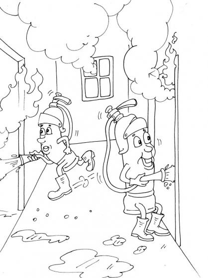 Coloriage pompier 25 coloriage pompiers coloriage metiers - Coloriages pompiers ...