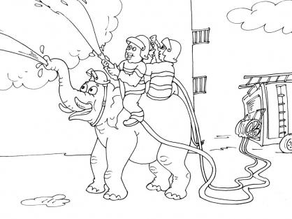 Coloriage Pompier 26