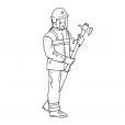 Coloriage Pompier 4