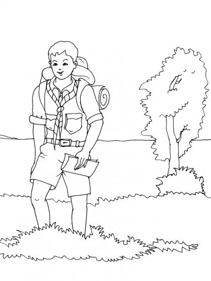 Coloriage Scout 1
