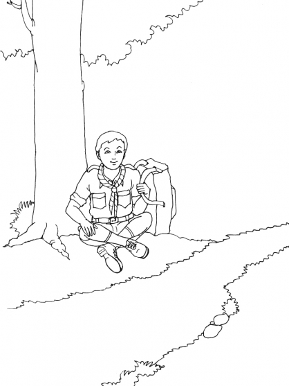 Coloriage Scout 14