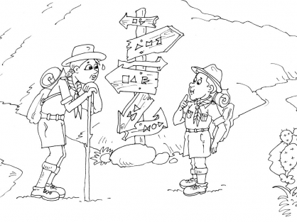 Coloriage Scout 16