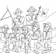 Coloriage Scout 19