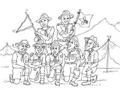 Coloriage Scout 19