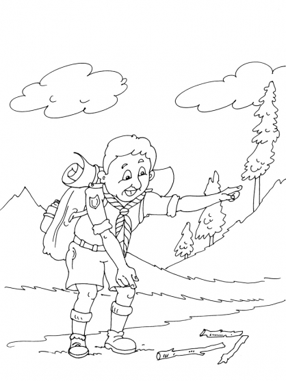 Coloriage Scout 22
