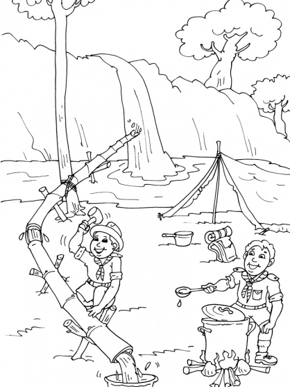 Coloriage Scout 26