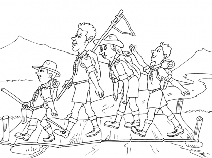 Coloriage Scout 30