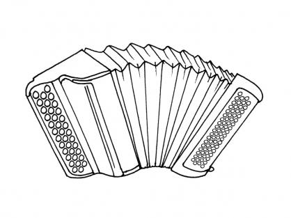 Coloriage L'accordéon