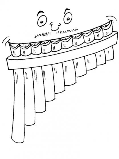 Coloriage La flûte