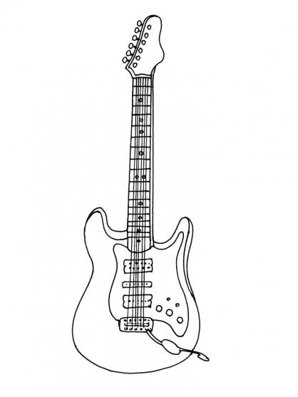 Coloriage La guitare électrique