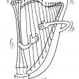 Coloriage La harpe