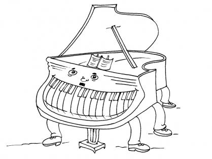 Coloriage Le piano
