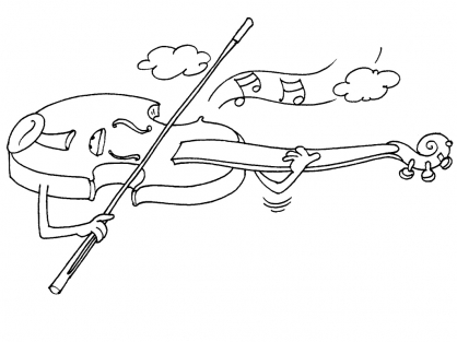 Coloriage Le violon