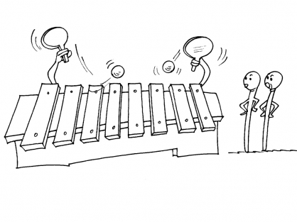 Coloriage Le xylophone