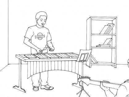 Coloriage Musique 12