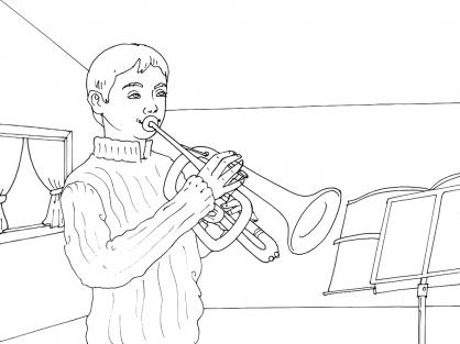 Coloriage Musique 4