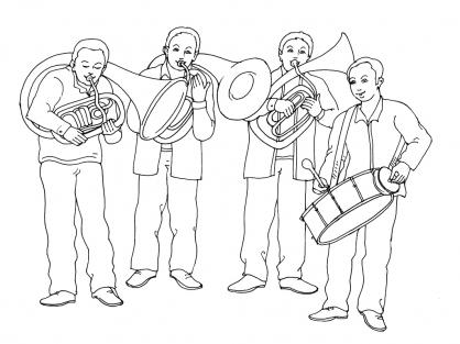 Coloriage Musique 7