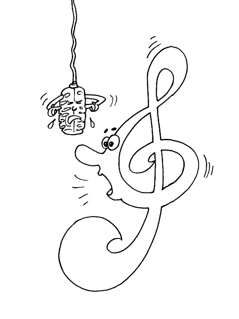 Port e de musique cle de sol coloriage - Coloriage notes de musique ...