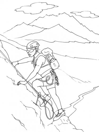 Coloriage Montagne 2