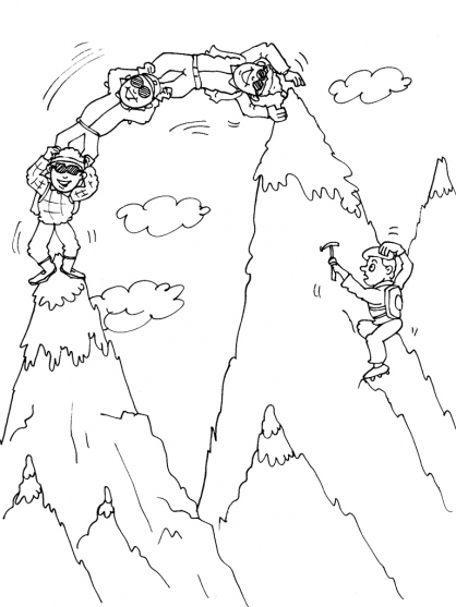 Coloriage Montagne 21