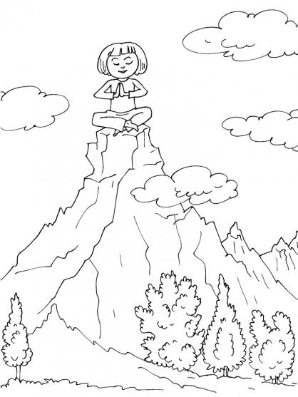 Coloriage Montagne 22