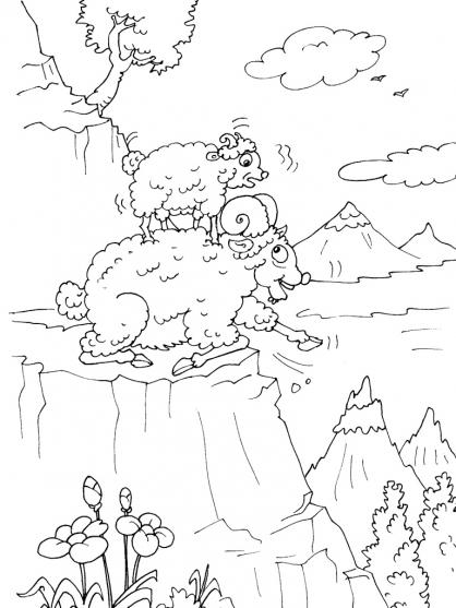 Coloriage Montagne 27
