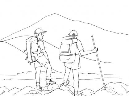 Coloriage Montagne 3