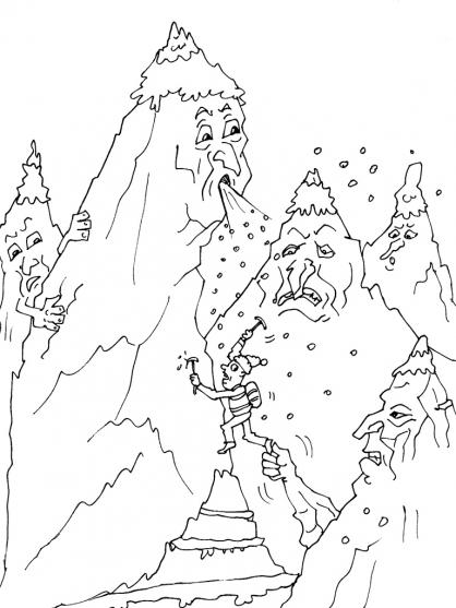 Coloriage Montagne 30