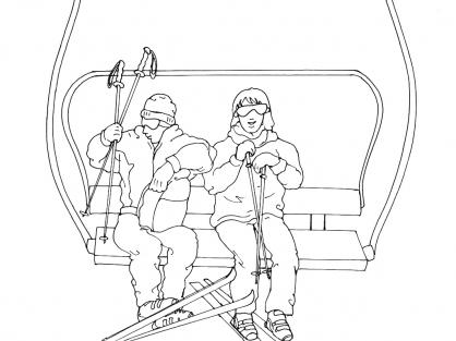Coloriage Ski 10