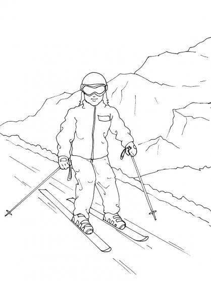 Coloriage Ski 11