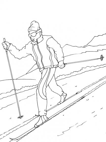 Coloriage Ski 12