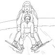 Coloriage Ski 13