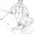 Coloriage Ski 14