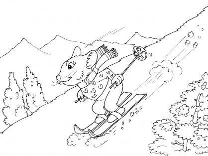 Coloriage Ski 19