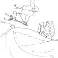 Coloriage Ski 2