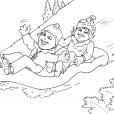 Coloriage Ski 27