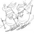 Coloriage Ski 28