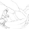 Coloriage Ski 3