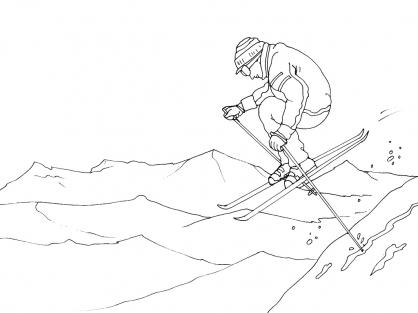 Coloriage Ski 5