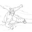 Coloriage Ski 7