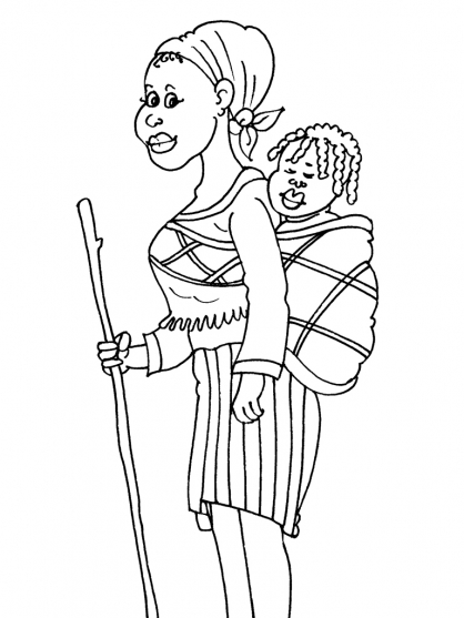 Coloriage africains 20 coloriage africains coloriage - Case africaine dessin ...