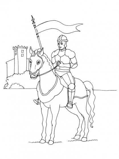 Coloriage chevalier 1 coloriage chevaliers coloriage - Coloriage personnage ...